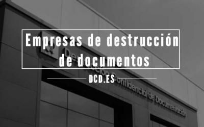 Empresas de destrucción documentos