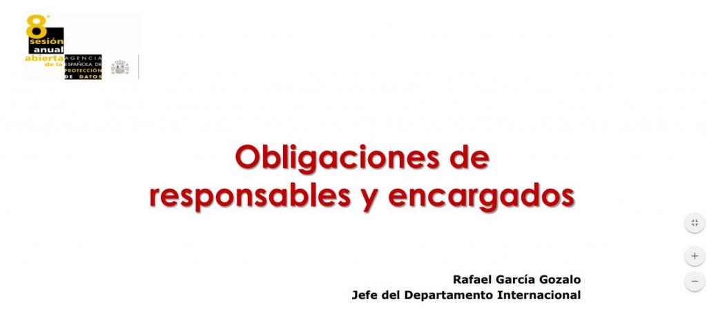 Obligaciones de responsables y encargados