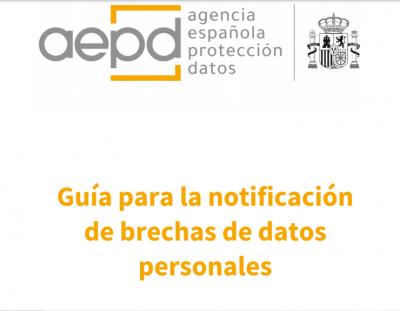 Guía para la notificación de brechas de datos personales