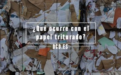 Después de la destrucción de documentos
