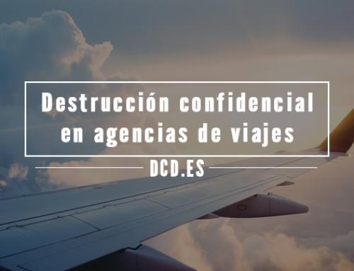 Destrucción confidencial de documentos en agencias de viajes
