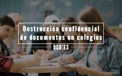 Destrucción confidencial de documentos en colegios