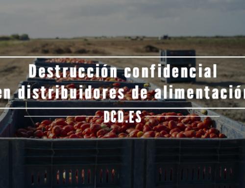 Destrucción confidencial en distribuidores de alimentación