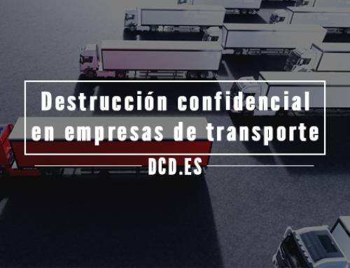 Destrucción confidencial en empresas de transporte