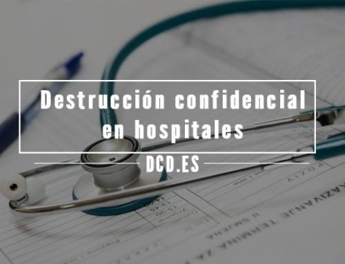 Destrucción confidencial en hospitales y centros médicos