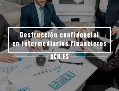 Destrucción confidencial en intermediarios financieros