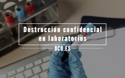 Destrucción confidencial en laboratorios