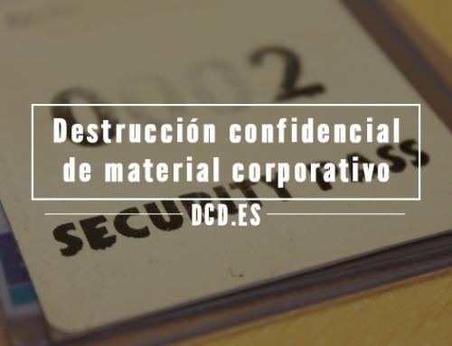 Destrucción confidencial de material corporativo