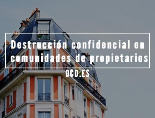 Destrucción confidencial en comunidades de propietarios