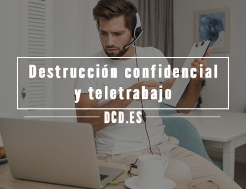 Destrucción confidencial de documentación y teletrabajo
