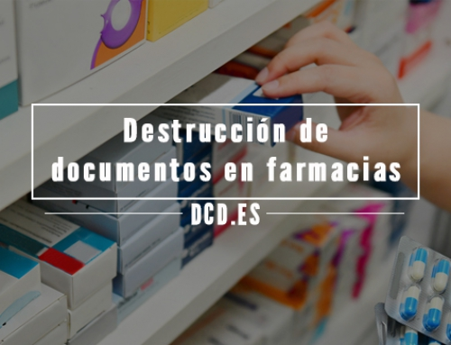 Destrucción de documentos en Farmacias