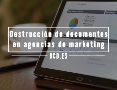 Destrucción de documentos en agencias de marketing y publicidad