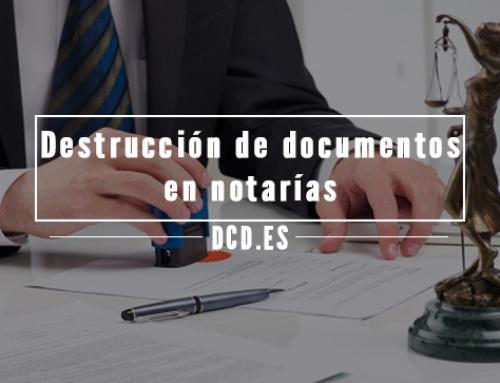Destrucción de documentos en notarías