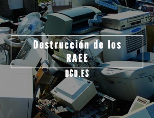 Destrucción de los RAEE (residuos de aparatos eléctricos y electrónicos)