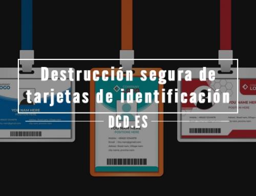 Destrucción segura de identificadores y pases de seguridad