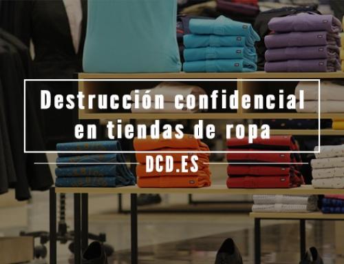 Destrucción confidencial en tiendas de ropa