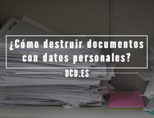 ¿Cómo destruir documentos con datos personales?
