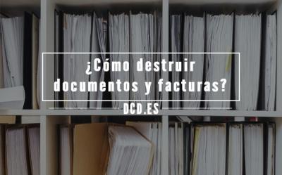 ¿Cómo puedo destruir documentos y facturas?