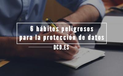 hábitos que pueden perjudicar la seguridad de los datos