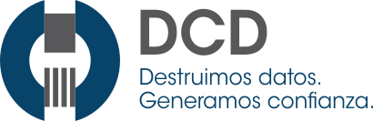 DCD-Destrucción confidencial de datos y documentos Sticky Logo