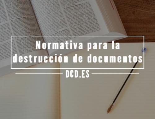 Normativa sobre destrucción de documentos