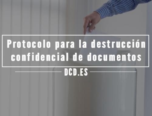 Protocolo para la destrucción confidencial de documentos