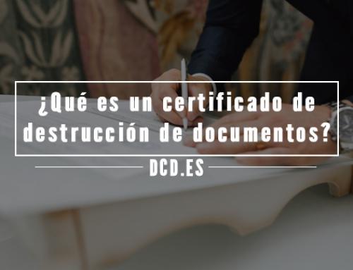 ¿Qué es un certificado de destrucción de documentos?