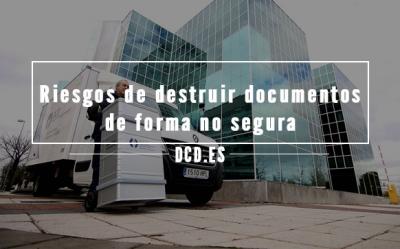 Riesgos de destruir documentos