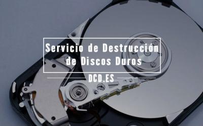 Servicio de destrucción de discos duros