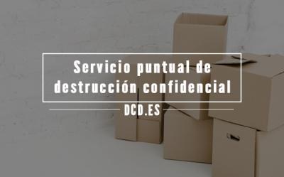Servicio puntual de destrucción confidencial de información