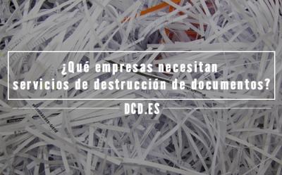 Servicios de destrucción de documentos